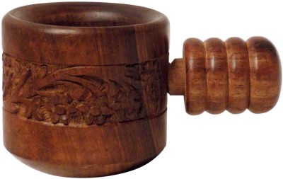 Crafts,man Wooden Hand crafted Kitchenware Wooden Masher(Brown, Pack of 1)
