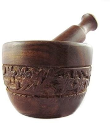 Woodpedlar Wooden Masher(Brown, Pack of 2)