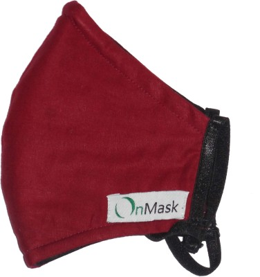 Onmask Maroon (Medium) Mask and Respirator