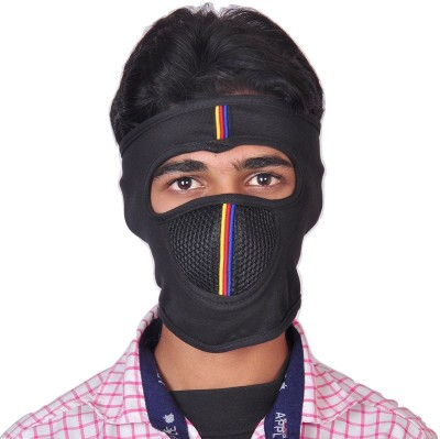 Svila Multicolor Bike Face Mask for Men