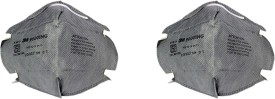AREX 3M ANTI POLLUTION 3M9000ING Mask and Respirator (Pack of 2) Mask and Respirator