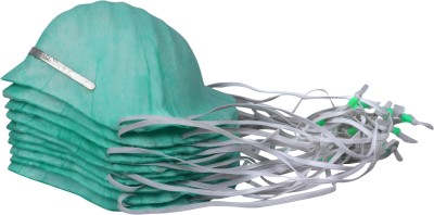 Breathers Go Pure for Sure! [Green, cup shape,Adjustable elastic bands] Pack of 10 MP-2F Plus Respirator