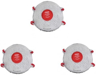 Midas Safety Non-Woven Cup Mask P2 Class with Valve & Carbon Layer FC 22VC Mask and Respirator