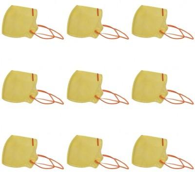 Midas Safety Non-Woven Flat Fold Yellow FF41 Mask