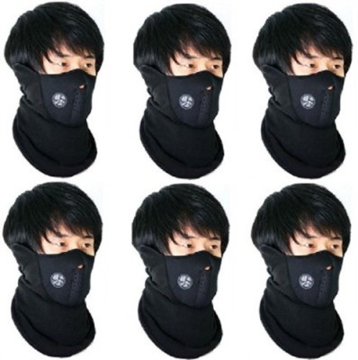 Elite Mkt 6 Pieces Face Nose Ear Neck Ski Snowboard Bike Motorcycle Riders Warm Dust Free Breathable Anti-pollution Mask