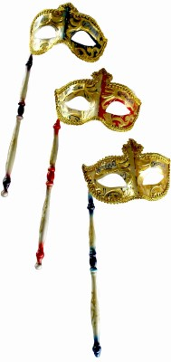 Oxytrends Niche Eye with Stick Party Mask(Multicolor, Pack of 3)