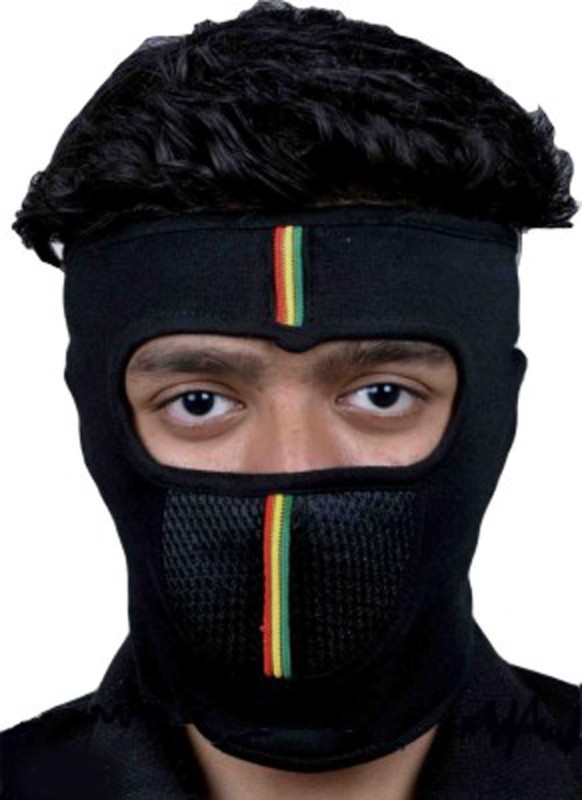 New Life Enterprise Black Bike Face Mask for Men &...