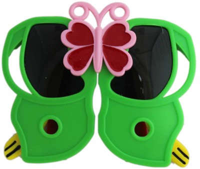 Tootpado Butterfly - Green & Pink (Kids Folding Glasses, Fancy Shades, Sunglasses, Goggles, Eye Wear) Party Mask(Green, Pack of 1)