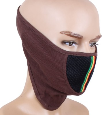 Sushito Riding Anti-pollution Mask(Brown, Pack of 1)