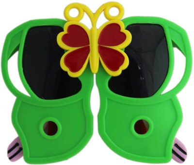 Tootpado Butterfly - Green & Yellow (Kids Folding Glasses, Fancy Shades, Sunglasses, Goggles, Eye Wear) Party Mask(Green, Pack of 1)