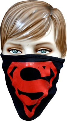 Popular Wise Red Superman Anti-pollution Mask(Black, Pack of 1) at flipkart