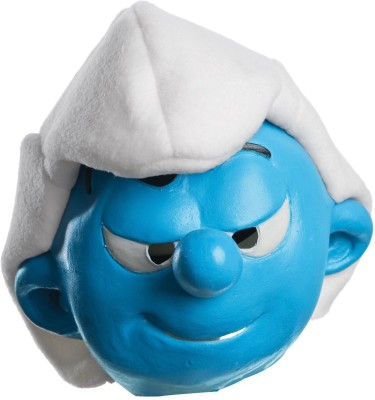 Rubie's The Smurfs Movie Child's Mask, Hefty Party Mask(Blue, White, Pack of 1)