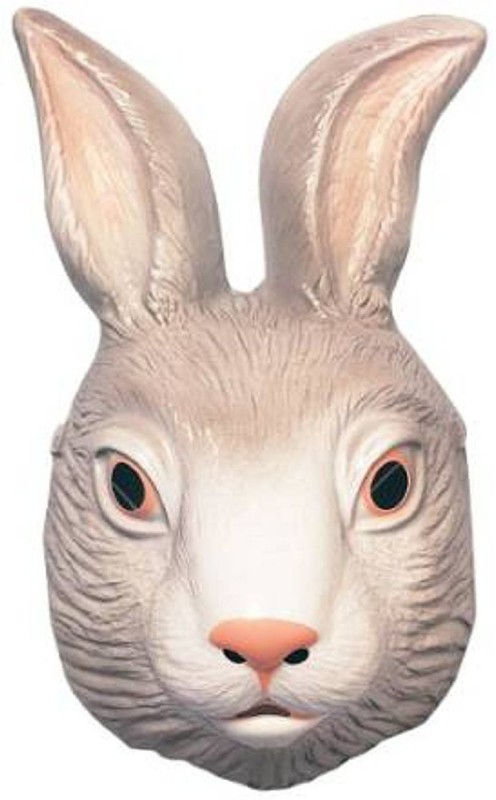 Rubie's Costume Co Animal Mask-Bunny Costume Party Mask(White, Pink, Pack of 1)
