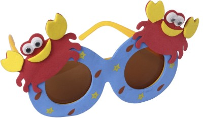 Atpata Funky Crab Mini Goggle (For Kids Only) Party Mask(Red, Pack of 1)