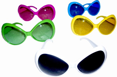 Oxytrends Ladies Retro Goggles Party Mask(Multicolor, Pack of 3)