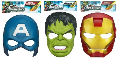 Hasbro Marvel Avengers Movie Roleplay Captain America Party Mask(Multicolor, Pack of 3)