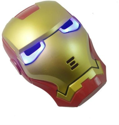 PartyballoonsHK Iron Man Face LED Party Mask(Red, Gold, Pack of 1)