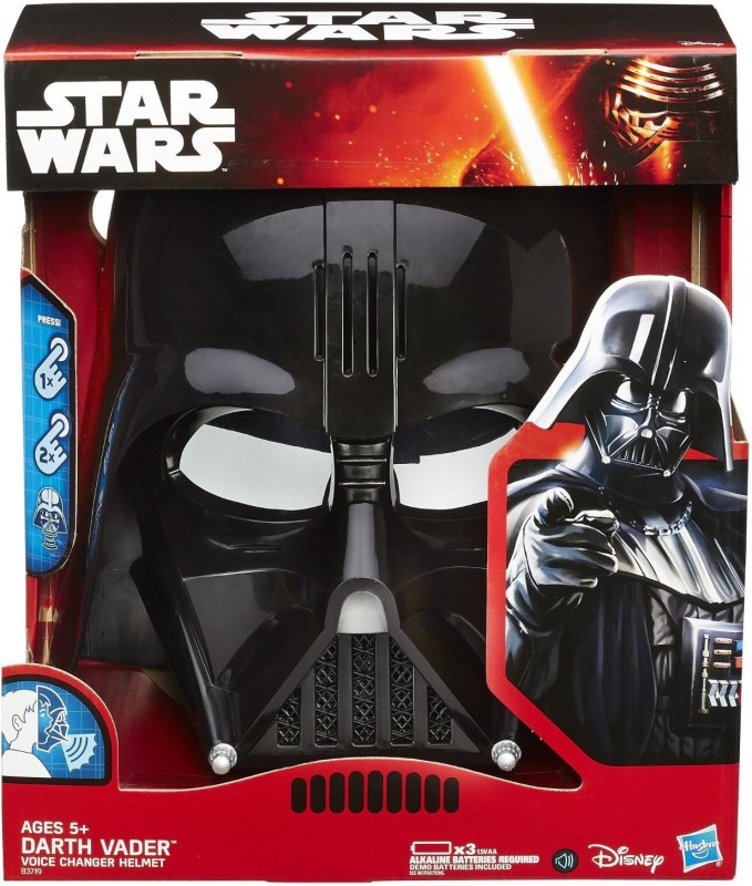 Star Wars The Empire Strikes Back Darth Vader Voice Changer Helmet Party Mask(Black, Pack of 1)