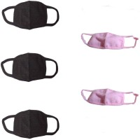 New Life Enterprise Dust Mouth Nose Anti-pollution Mask(Multicolor, Pack of 5)