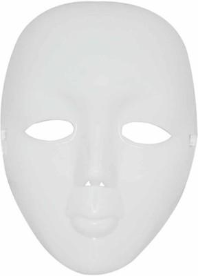 Masti station Plain White Party Mask