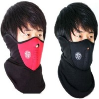 Elite Mkt Combo Offer Of 2 Face Nose Ear Neck Ski Snowboard Bike Motorcycle Riders Warm Dust Free Breathable Anti-pollution Mask(Red, Black, Pack of 2)