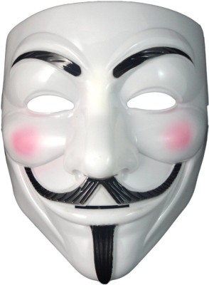 PartyballoonsHK Vendetta (Comic Face) Party Mask(White, Pack of 1)