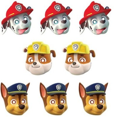 Anagram Paw Patrol Paper Masks Party Mask(Multicolor, Pack of 8)
