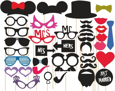 M1 Props Set Party Mask(Multicolor, Pack of 36)