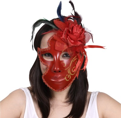 Madcaps The Partyshop Mask Full w Flower Party Mask