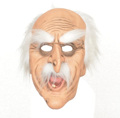 Tootpado Realistic Latex Rubber Adult Size - Old Man 1a224 - Horror Halloween Ghost Scary Full Face Cosplay Costumes supplies Creepy Zombie Party Mask(Multicolor, Pack of 1)