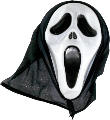 Oxytrends Scarry Party Mask(White, Pack of 5)
