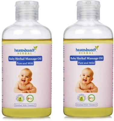 Healthbuddy Herbal Baby Massage Oil 2 Packs of 200 ml Each