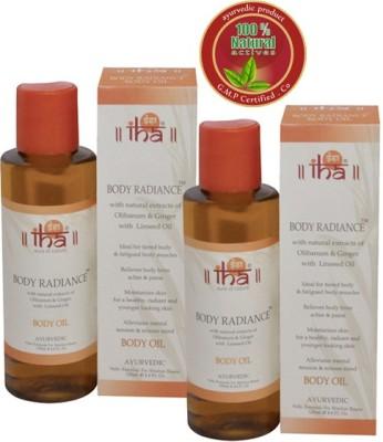Iha Ayurvedic Body Radiance Oil - Pack of 2 - Premium Natural
