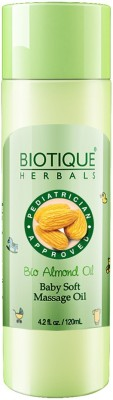 Biotique BIO ALMOND OIL BABY SOFT MASSAGE OIL 120 ML(NEW)(120 ml)