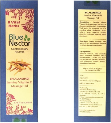 Blue Nectar Balalakshadi Ayurvedic Body Massage Oil aids Vitamin D Absorption
