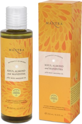 Mantra Khus, Almond and Manjistha Pitta Body Massage Oil