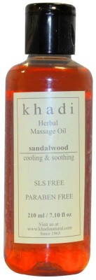 Khadi Natural Sandalwood Massage Oil-SLS & Paraben Free(210 ml)