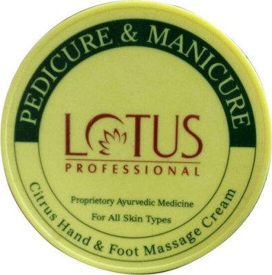 Lotus Professional Pedicure and Manicure Citrus Hand and Foot Massage Cream(300 ml)