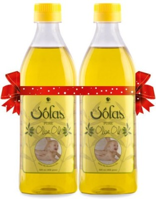 The Solas Pure Olive Oil - 500ml (Pack of 2)