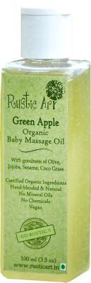 Rustic Art Organic Baby Oil - Green Apple