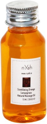 Nyah Scintillating Orange Lemongrass Natural Massage Oil 70 ML