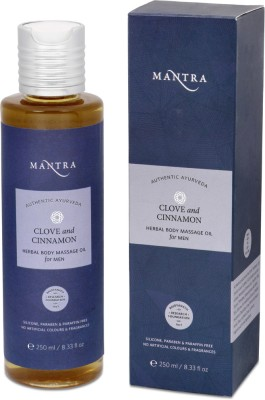 Mantra Clove and Cinnamon Herbal Body Massage Oil - For Men