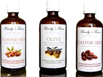 Mandy's Farm BABY BLISS MASSAGE GIFT PACK - 3 Pure & Natural Massage Oils
