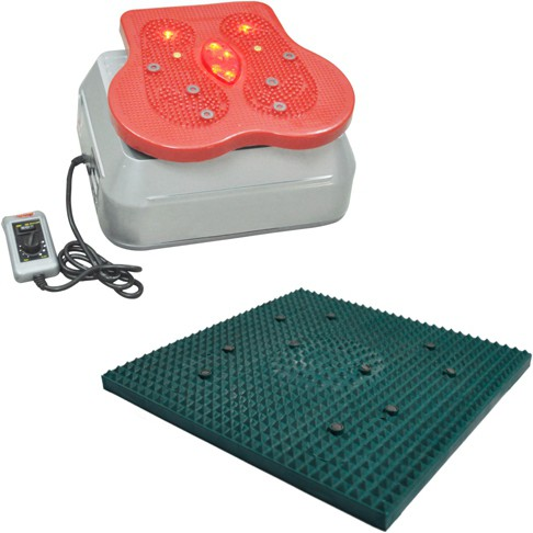 Deemark DC188 combo of blood circulation machine with small relif mate as freebie Massager(Grey, Borwn)