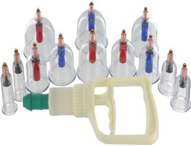 VLIKE VCS08 Vacuum Apparts 12 cupping set Massager(transparent)
