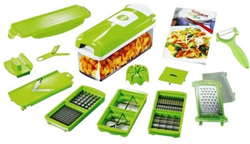 Yoneedo Fruit And Vegetable Cutter Chopper(Green)