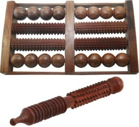 Onlineshoppee AFR1129-s Foot Roller Massager(Brown)