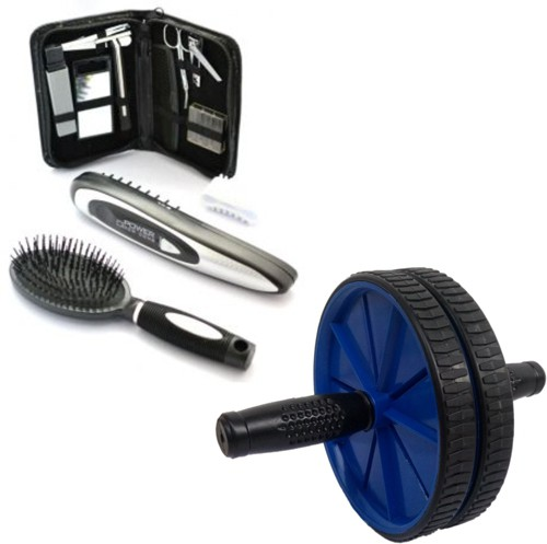 Deemark DC119 combo of power comb with ab rollar Massager(Purple, Blue)