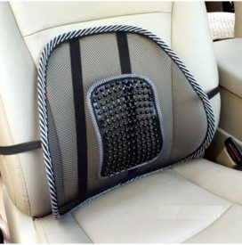 AutoKraftZ blkbackrest78 Car Seat Massage Chair Back Lumbar Support Mesh Ventilate Cushion Pad For Hyundai Verna Old Massager