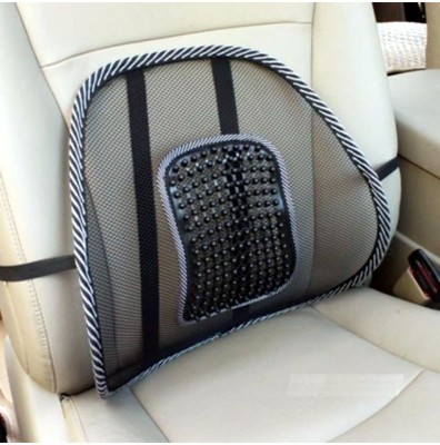 AutoKraftZ blkbackrest19 Car Seat Massage Chair Back Lumbar Support Mesh Ventilate Cushion Pad For Maruti Wagon R Massager